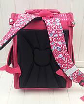 Ортопедический каркасный ранец с принтом для девочки 34*25*15 см, фото 3