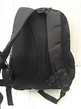 Черный школьный рюкзак для мальчика подростка 42*28*13 см, фото 3
