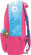 Подростковый школьный рюкзак розового цвета для девочки 48.5*31.5*15, фото 3