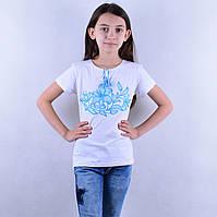 """Вишита футболка для дівчинки """"Лилия"""""""