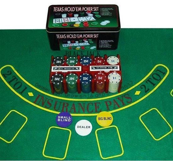 Набор для игры в Покер Texas Poker. 200 фишек.