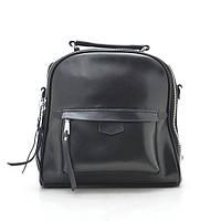 Рюкзак-сумка из натуральной кожи черного цвета