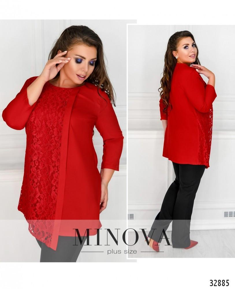 Эффектная женская блуза свободного кроя с 50 по 62 размер