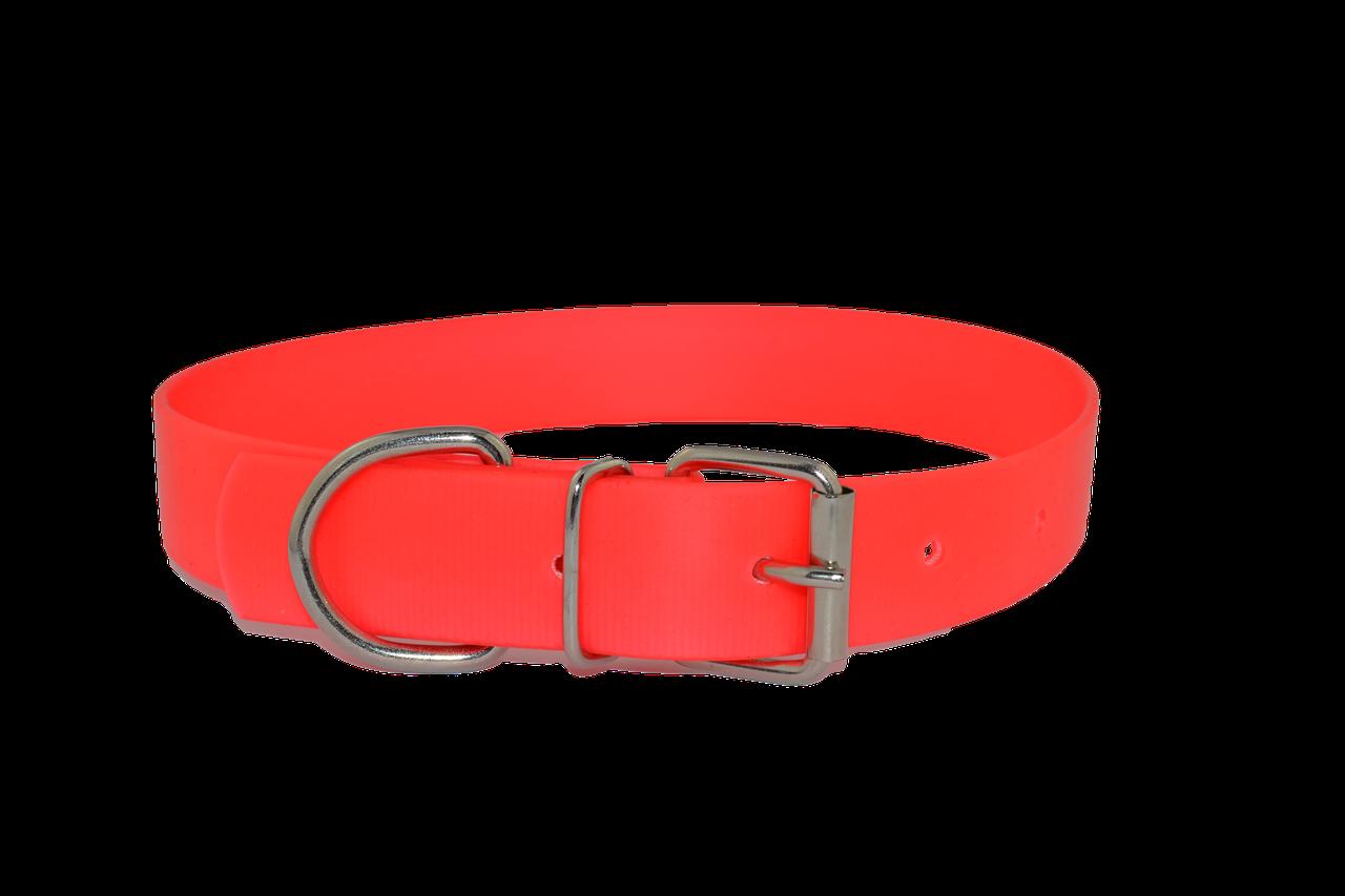 Нашийник KareLine's Keeper біотановий, флуоресцентний, з металевою пряжкою, ширина 20 мм, длина 320-420 мм