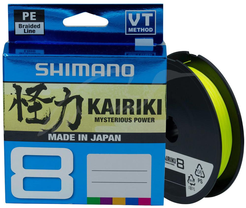 Шнур Shimano Kairiki 8PE (Yellow ) 150m 0.19mm 12.0kg