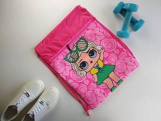 Сумка-мешок для спортивной формы и обуви с куклой LOL 44*34 см