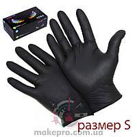 Упаковка перчаток S (черные 100 шт)