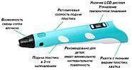Детская 3д ручка c LCD дисплеем, 3D ручка My riwell 3d Pen 2, фото 4