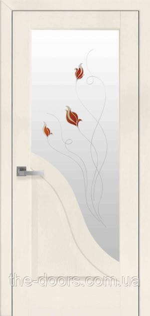 Дверь Амата Р1 стекло сатин с рисунком