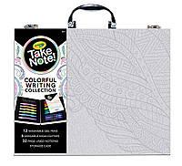 Арт кейс с гелевыми ручками и маркерами Crayola Take Note, Colorful Writing Art Case (04-0421)
