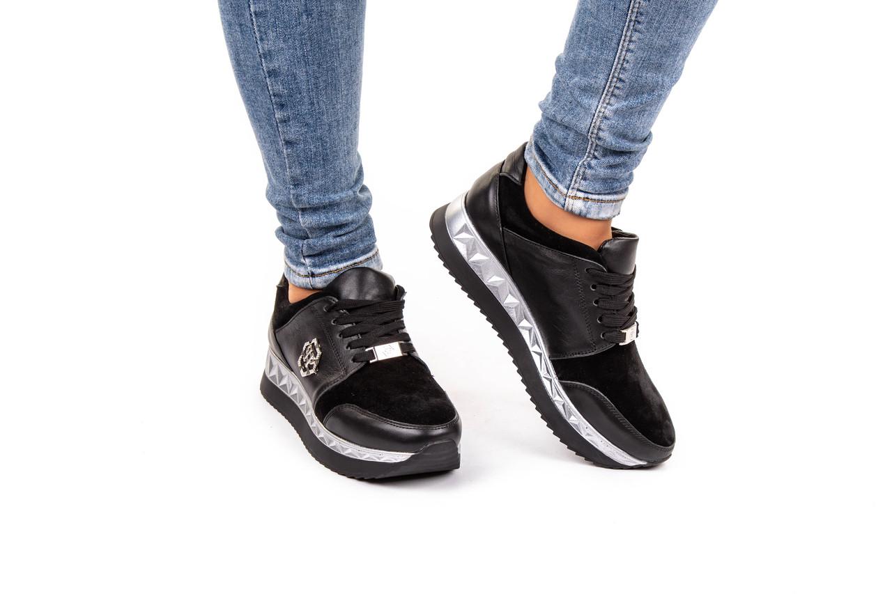 Жіночі кросівки  кожаные высокие  36-40 черный