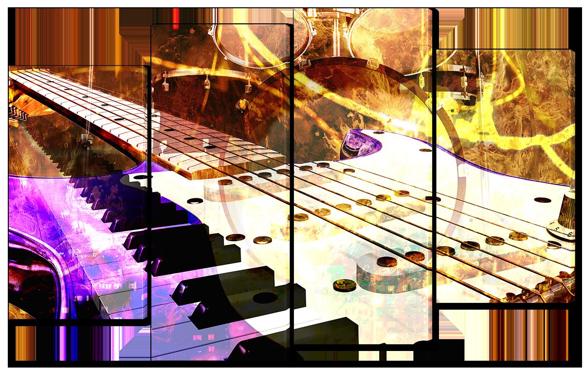 Модульная картина Interno Эко кожа Музыка абстракция 94x56см (A1653S)