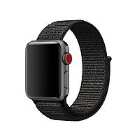 Нейлоновый ремешок для Apple Watch 42mm/44mm Sport Loop Black