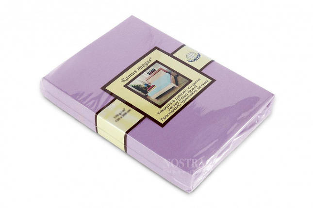 Трикотажная простынь на резинке Nostra (200х200) Сиреневая, фото 2