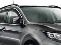 Ветровики с полосой из нержавейки Toyota RAV4 2013-2018 дефлекторы окон полный комплект, фото 1