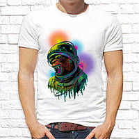 Мужская футболка Push IT с принтом Медведь космонавт