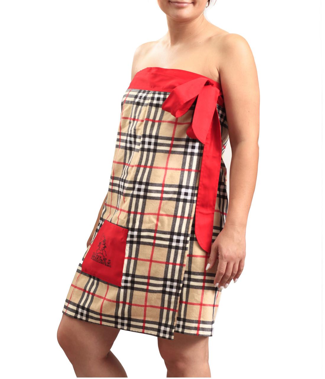Женское парео с карманом для бани , сауны., фото 1