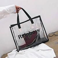 Сумка прозрачная из PVC с косметичкой опт, фото 1