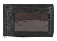 Мужской прочный  зажим для денег из эко кожи MMN art. 918 черный, фото 1