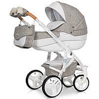 Детская коляска 2 в 1 Riko Brano Luxe 02 Latte