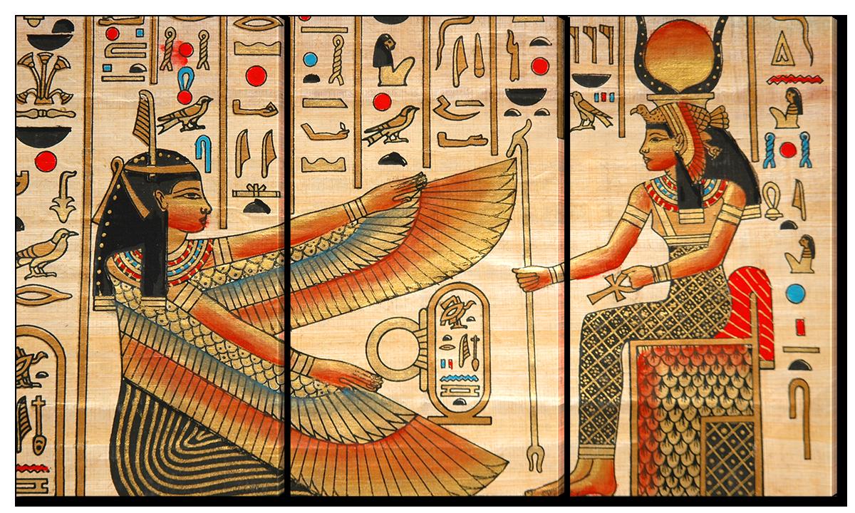 Модульная картина Interno Эко кожа Папирус из Египта 144x82см(A1654XL)
