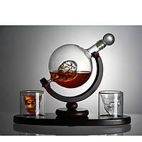 """Набор для виски """"Доктор Фауст"""" (Штоф 850 мл. +2 стакана)"""