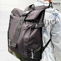 Ролл-топ рюкзак городской черного цвета, фото 1