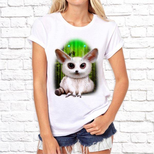 Женская футболка Push IT с принтом Мышка 2