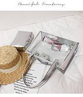 Прозрачная сумка c надписью и косметичкой опт, фото 1