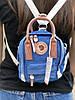 Сумочка-рюкзак городская компактная на 2 литра Acne Studio x Fjällräven Kånken clutch, цвет голубой