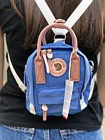 Сумочка-рюкзак городская компактная на 2 литра Acne Studio x Fjällräven Kånken clutch, цвет голубой, фото 1