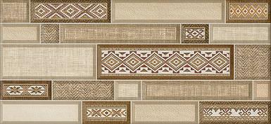 TEXTILE декор коричневый / Д 182 031
