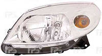 Фара передняя для Renault Sandero '08- левая (DEPO) механическая/под электрокорректор