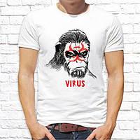 """Чоловіча футболка з принтом Мавпа """"Virus"""" Push IT"""