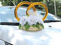 Кольца на свадебный автомобиль с цветами (125), фото 1