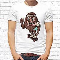 Чоловіча футболка з принтом Мавпа на скейті Push IT
