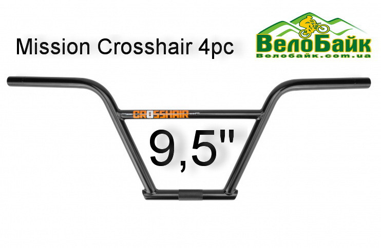 "Кермо BMX Mission Crosshair 4pc 9.5"" чорний (MN6446BED)"