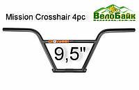 """Кермо BMX Mission Crosshair 4pc 9.5"""" чорний (MN6446BED)"""