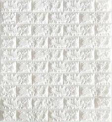 3D панель, обои, Самоклеящаяся, Sticker Wall, 70 x 77 x 0,5 см, Белый кирпич - 159348
