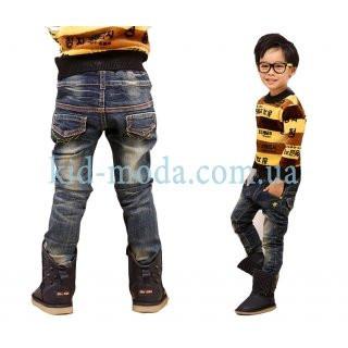 Джинсы с вышивкой на карманах