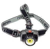 Налобный фонарь RGB-811 с лазерной указкой