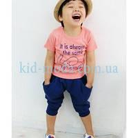 """Комплект для хлопчика (штани з принтом """"Зірки"""", футболка), фото 1"""