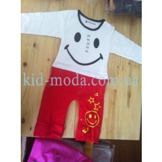 """Комплект детский с принтом """"Smile"""" (реглан, штаны)"""
