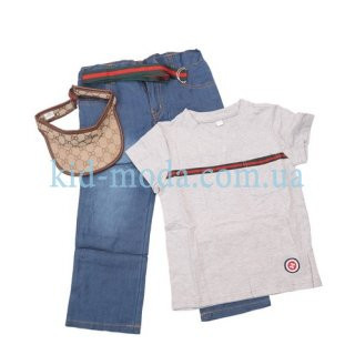 Комплект-тройка Gucci (футболка, штаны, козырек)