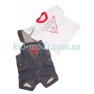 Комплект детский Guess для мальчика (комбинезон, футболка)
