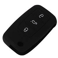 Силиконовый чехол на ключ для авто VW Polo Golf Passat Sharan Seat cordoba ibiza leon Skoda oktavia superb, фото 1