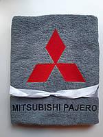 Mitsubishi PAJERO Полотенце махровое,банное 70x140 Вышивка эмблемы вашего автомобиля.Подарок для автомобилиста