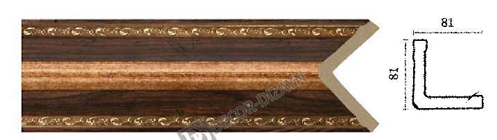 Угловой молдинг Арт-Багет 140-1084, интерьерный декор.