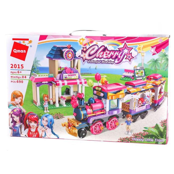 """Конструктор Brick(Qman) 2015 """"Счастливый поезд"""", 690 деталей"""