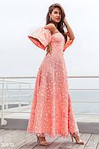 Платье макси с фигурным вырезом цвет персиковый, фото 2